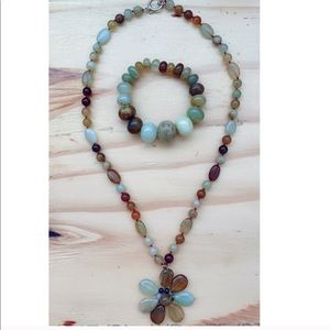 Wire gemstone necklace and bracelet from Macy's